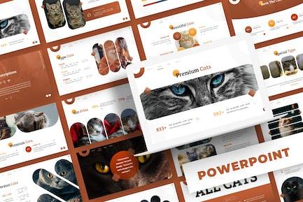 Cute Cat - Powerpoint Template