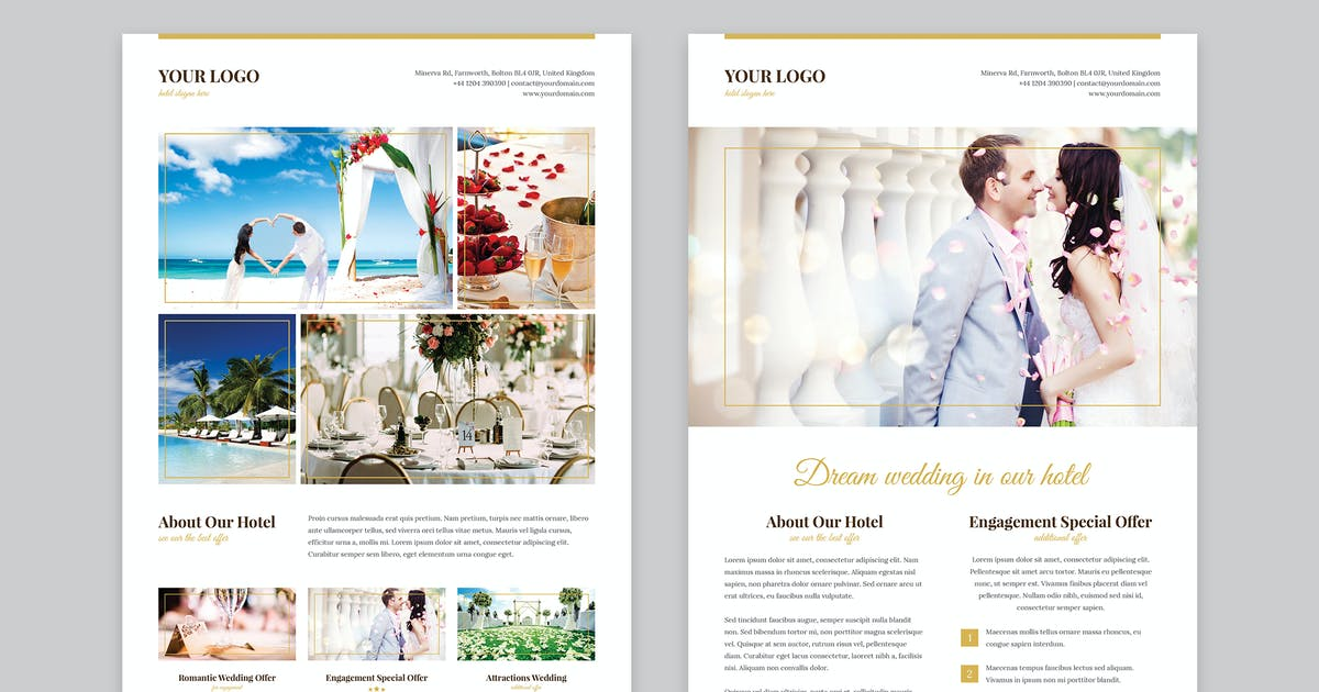 Flyer – Hotel for Wedding by artbart on Envato Elements