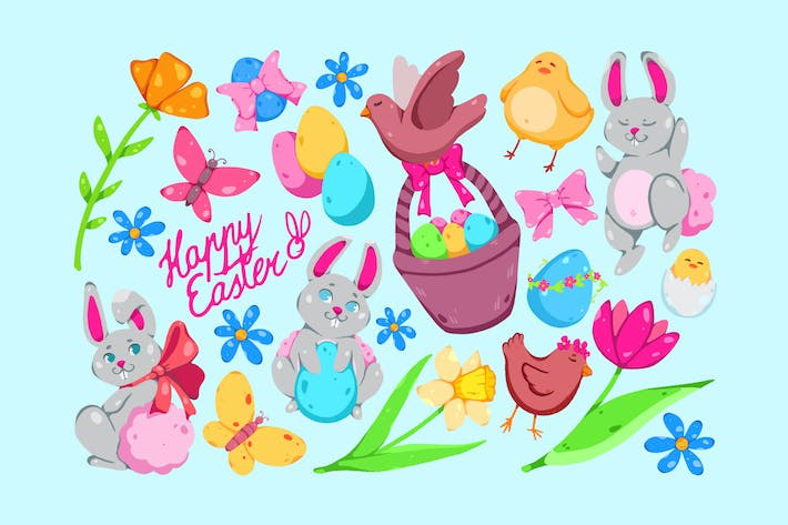 Thumbnail for Fluffy Easter Clipart