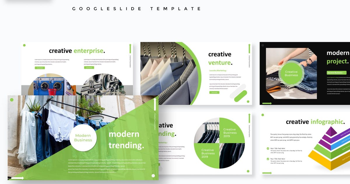 Download Laundry - Google Slides Template by aqrstudio