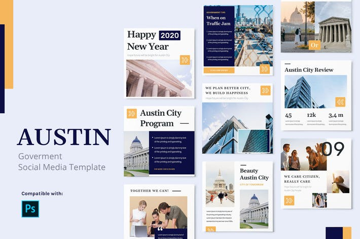 Thumbnail for Austin - Government Instagram Post Template