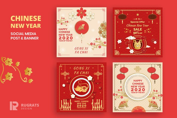 Thumbnail for Chinese New Year  R1 Social Media Post Template