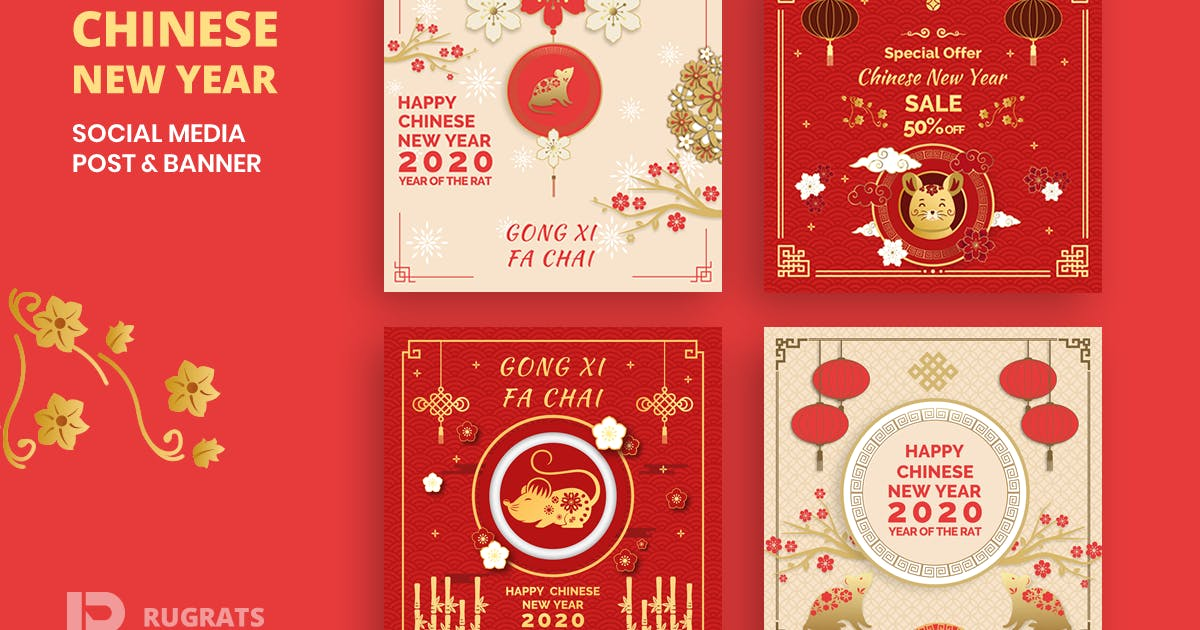 Download Chinese New Year  R1 Social Media Post Template by youwes