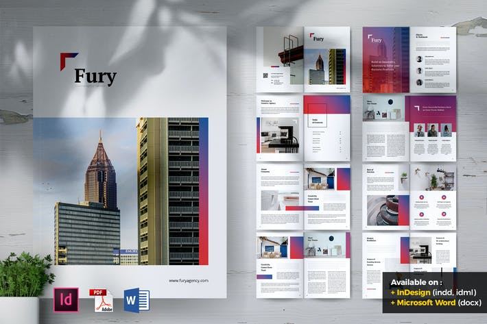 Thumbnail for FURY Creative Agency Company Profile Brochures