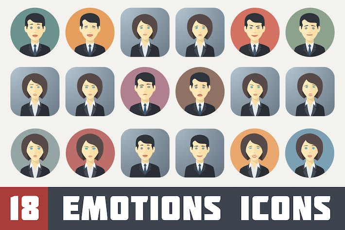 Thumbnail for Emotions Icons Set