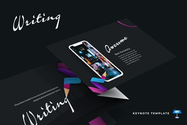 Thumbnail for Writing - Keynote Template