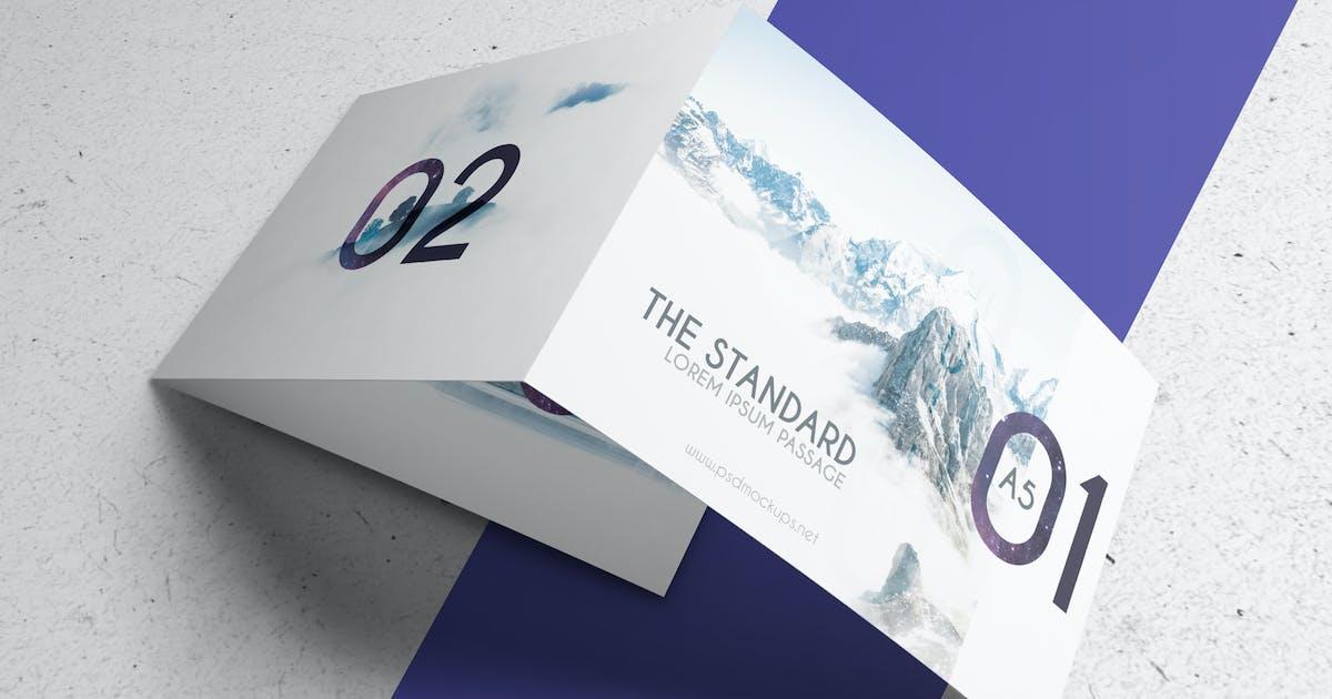 Download 3xA5 Landscape Trifold Brochure Mock-up V2 by Wutip