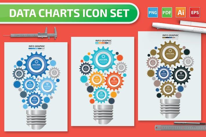 Thumbnail for Light bulb Infographics design