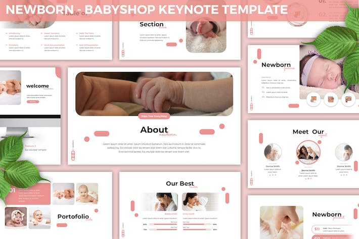 Thumbnail for Newborn - Babyshop Keynote Template