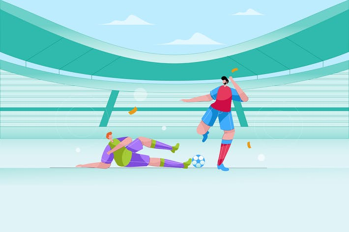 Thumbnail for Two men are playing soccer - Vector Illustration