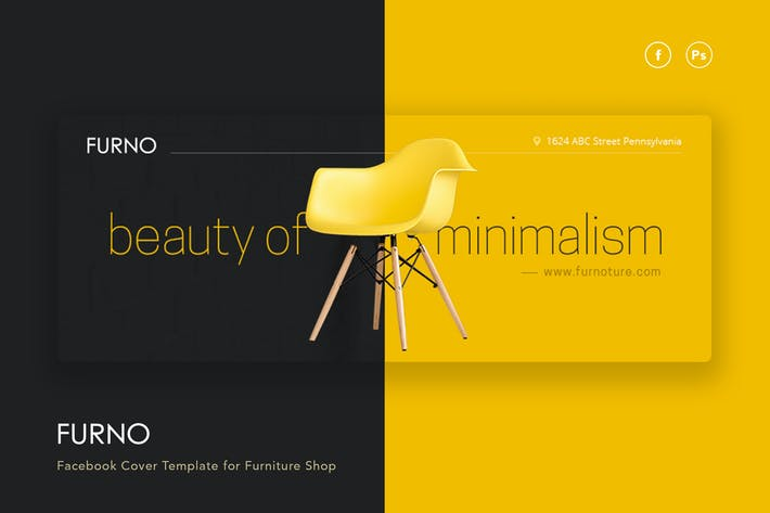 Thumbnail for Furno - Furniture Shop Facebook Cover Template