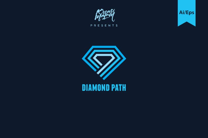 Thumbnail for Diamond Path Logo Template