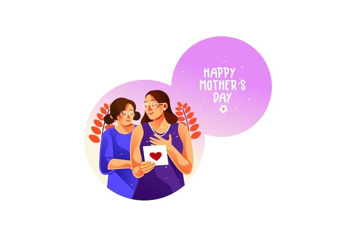 Mutter und ihre Tochter im Teenageralter am Muttertag