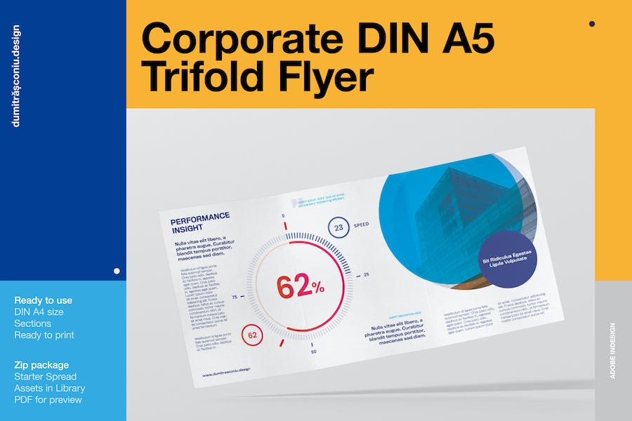 Corporate A5 Trifolder Flyer