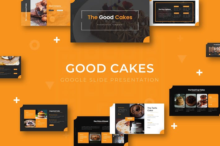 Cover Image For Good Cakes - Google Slide Template