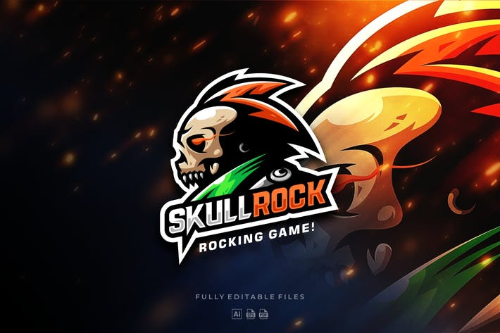 Thumbnail for Skull Rock Gaming Logo