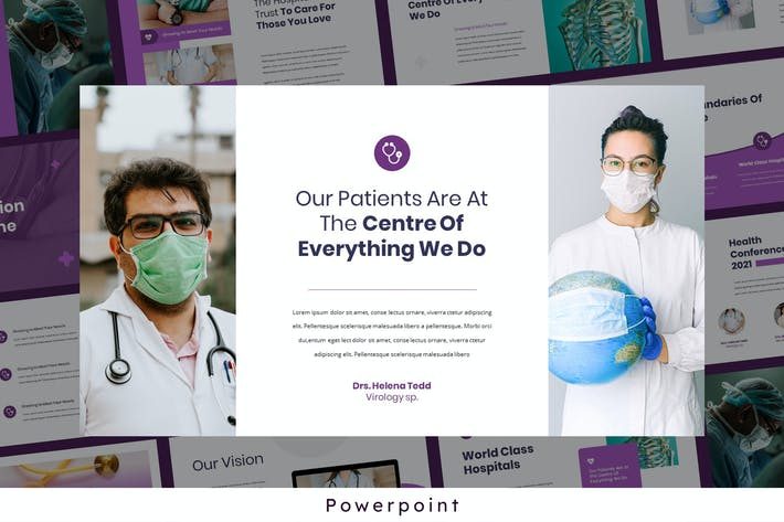 Cover Image For Helena - Medical Theme Powerpoint Presentation