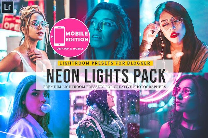 Neon Lights Lightroom Mobile Presets