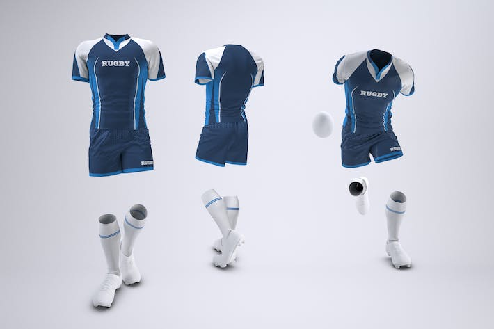 Thumbnail for Rugby Team Uniform Mock-Up