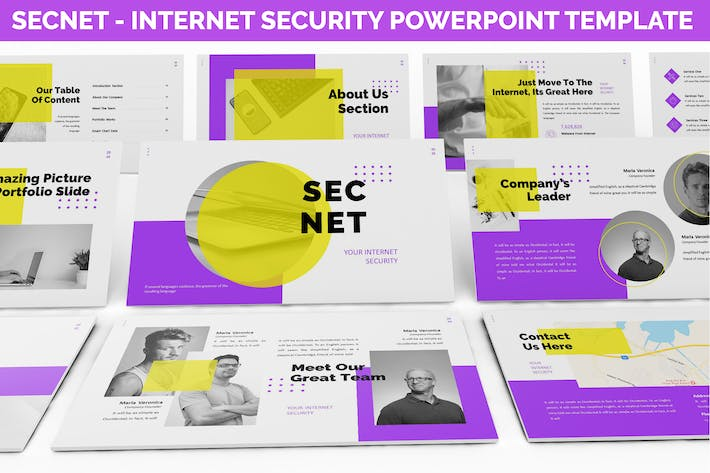 Thumbnail for Secnet - Internet Security Powerpoint Template