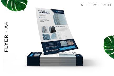Glas Aluminium Flyer Design