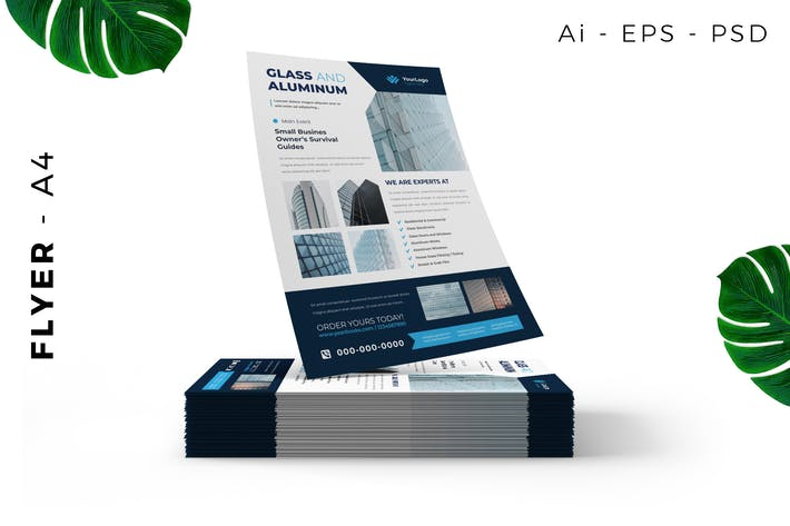 Glass Aluminum Flyer Design