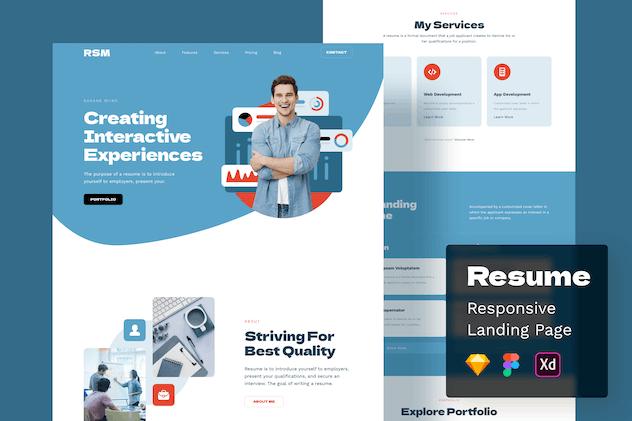 Resume Responsive Landing Page