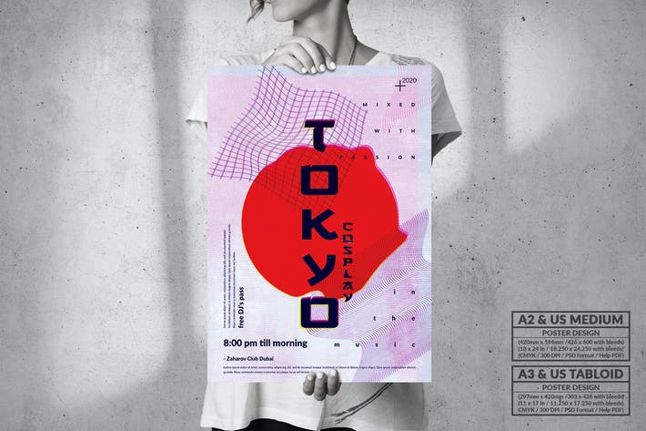Thumbnail for Tokyo Cosplay Party Poster Design - Music Event
