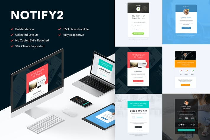 Thumbnail for Notify2 - 6 Emails + Themebuilder Access