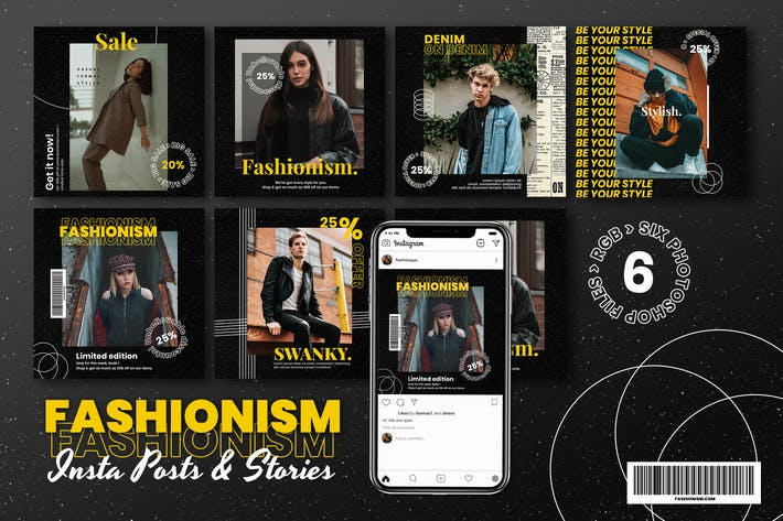 Fashionism Instagram Post & Story Template
