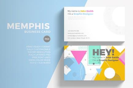 Memphis Visitenkarten-Vorlage