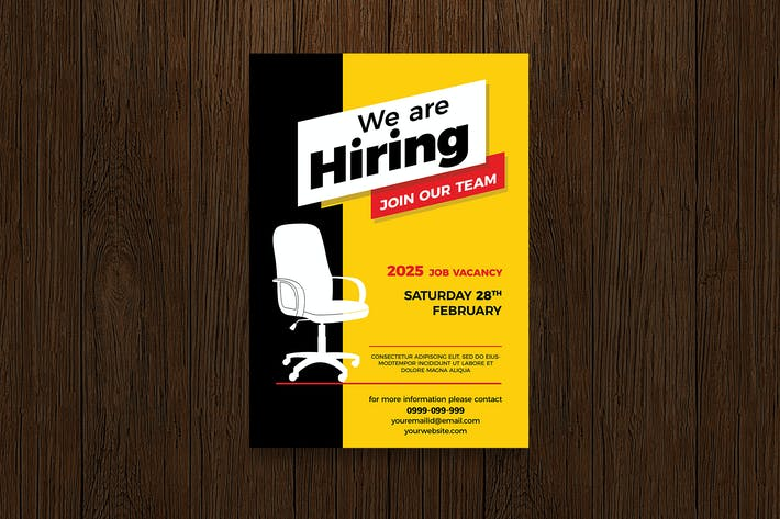 We Are Hiring Flyer