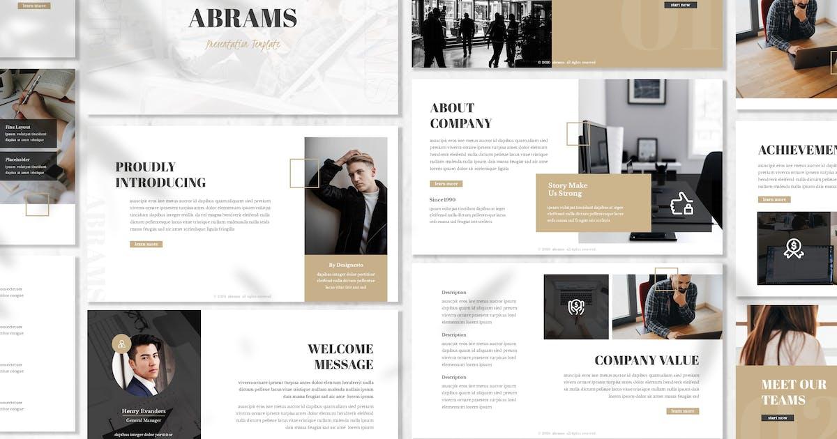 Download Abrams - Business Prensentation Template by designesto