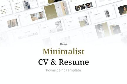 Minimalist CV Resume Powerpoint Presentation