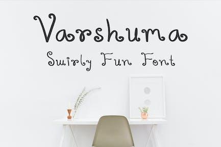 Varshuma - Fuente con texto a mano