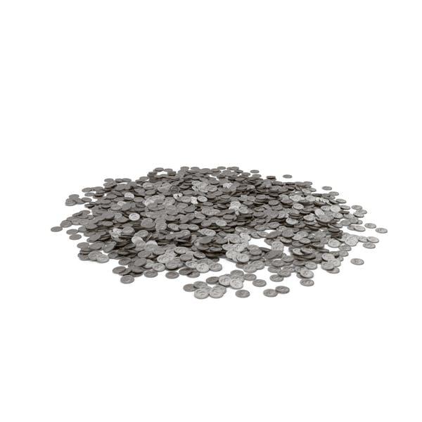 Серебряная куча монет