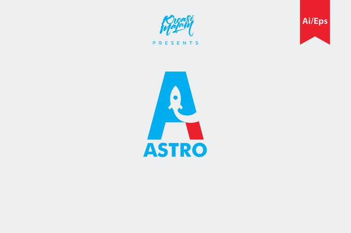 Thumbnail for Astro Letter A Logo Template