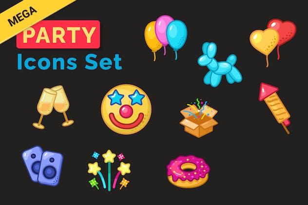 Mega Party Icons Set