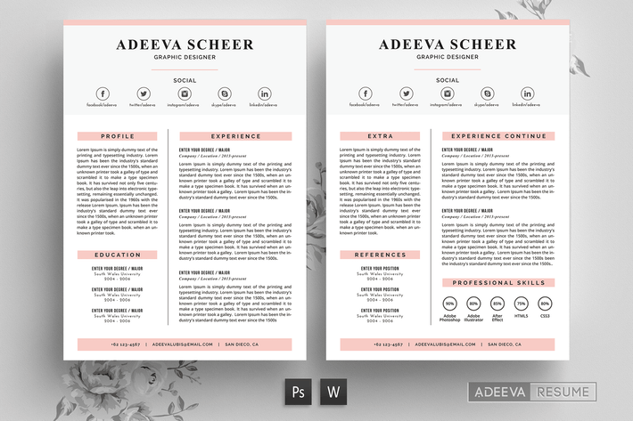 Thumbnail for Simple Resume Template Scheer