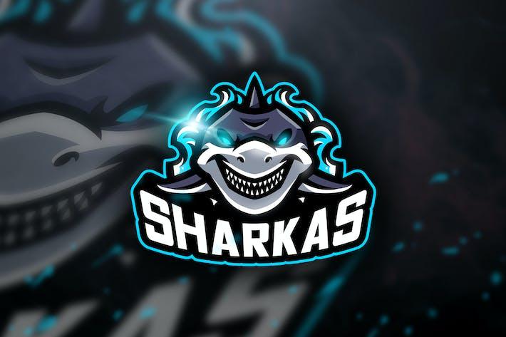 Thumbnail for Sharkas - Mascot & Sports Logo