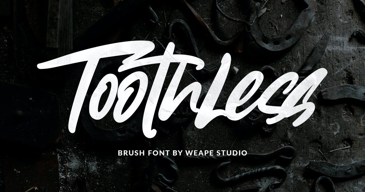 Download Toothless Brush Font by weapedesign