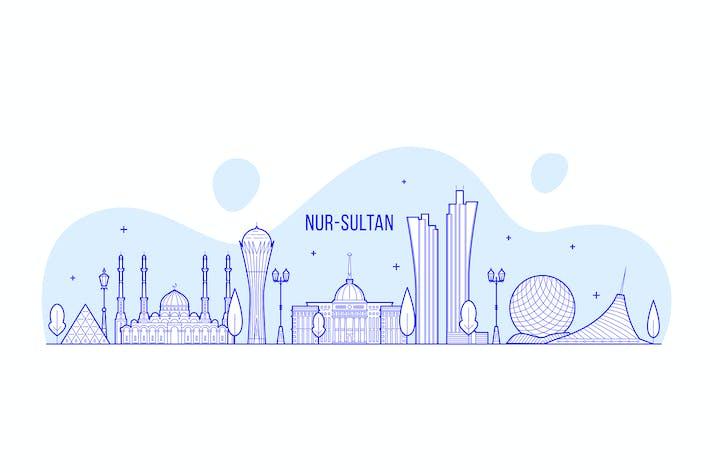 Thumbnail for Nur-Sultan skyline, Kazakhstan