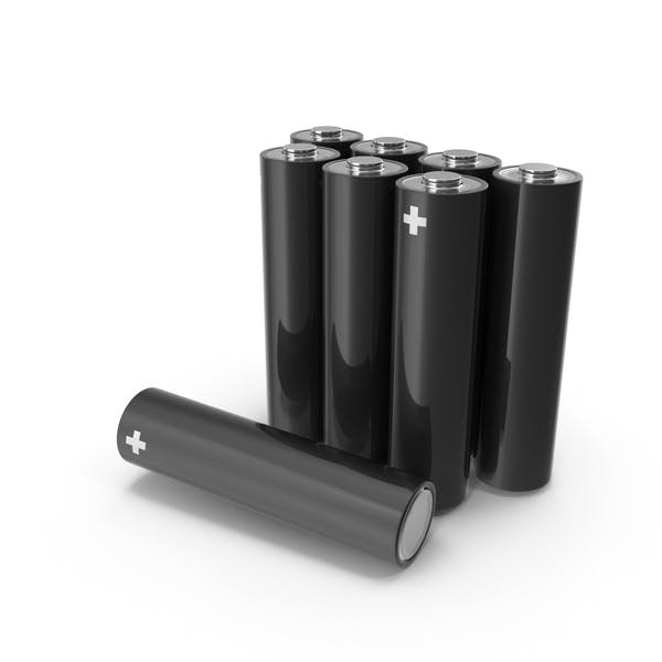 Thumbnail for Black Metallic AA Battery Set