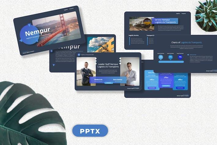 Thumbnail for Немпур - Логистика и транспорт Googleslide