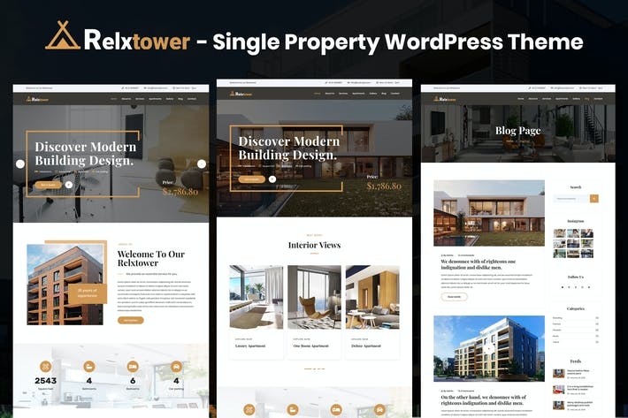 Thumbnail for Relxtower - Single Property Elementor WordPress