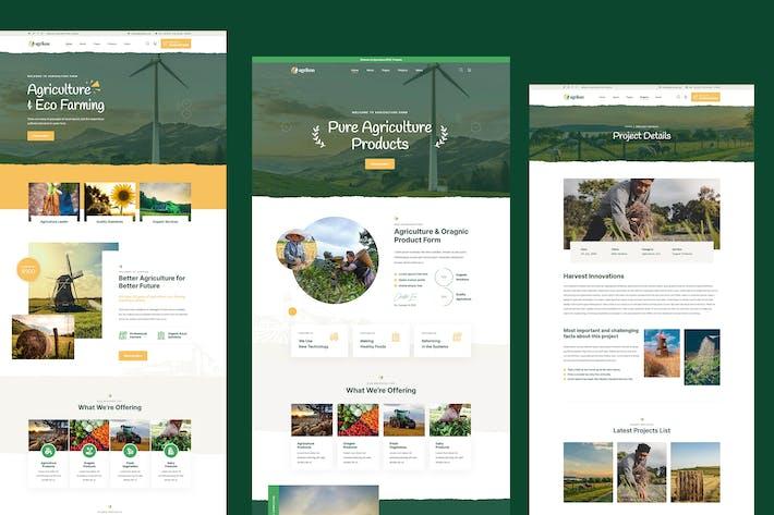 Agrikon -  Agriculture Organic Farmer PSD Template