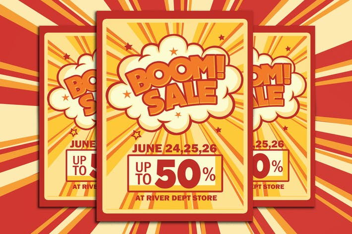 Thumbnail for Retro Boom Sale Promotion Flyer