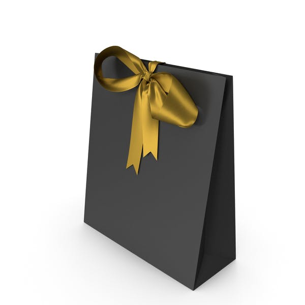 Thumbnail for Black Packaging Paper with Gold Ribbon Bow