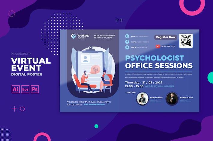Psychology Virtual Event Digital Poster Flyer