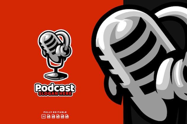 Podcast  Broadcast Mic Logo